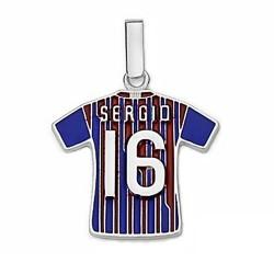 Camiseta escudo F.C. Barcelona Plata de ley Sergio n16 2011-12 [6953]