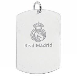 Chapa escudo Real Madrid Plata de ley grande [6787]
