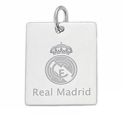 Chapa escudo Real Madrid Plata de ley mediana [6784]