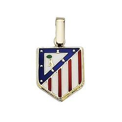Colgante escudo Atlético de Madrid oro de ley 9k 14mm. esmalte [6996]