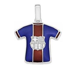 Colgante escudo F.C. Barcelona Plata de ley camiseta [6958]