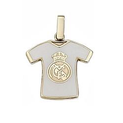 Colgante Real Madrid oro de ley 9k camiseta escudo esmalte [6489]