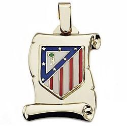 Pergamino escudo Atlético de Madrid oro de ley 18k grande [6976]