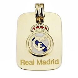Placa escudo Real Madrid oro de ley 9k esmalte rectangular [6500]