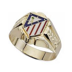 Sello escudo Atlético de Madrid oro de ley 9k esmalte hueco [7000]