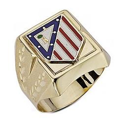 Sello escudo Atlético de Madrid oro de ley 9k grande hueco [6999]
