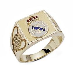 Sello escudo Real Madrid oro de ley 9k Champion grande [6494]