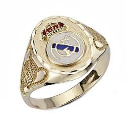 Sello escudo Real Madrid oro de ley 9k Champion grande ovalado [6496]