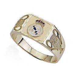 Sello escudo Real Madrid oro de ley 9k Champion pequeño [6495]