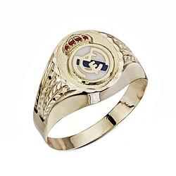 Sello escudo Real Madrid oro de ley 9k hueco oval tallado [6499]