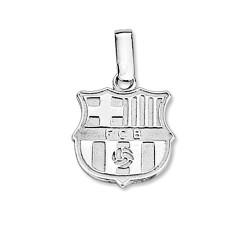 Colgante escudo F.C. Barcelona Plata de ley 16mm. liso [8460]
