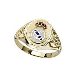 Sello escudo Real Madrid oro de ley 18k copas cadete [8468]