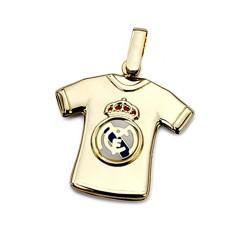 Colgante camiseta escudo Real Madrid oro de ley 18k estampado [8469]