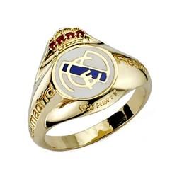 Sello escudo Real Madrid oro de ley 9k caballero silueta [8475]