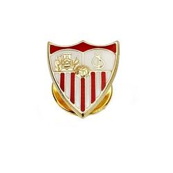 Pin escudo Sevilla FC oro de ley 18k 16mm. esmalte [8541]