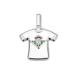 Colgante camiseta escudo Real Betis plata de ley estampada [8648]