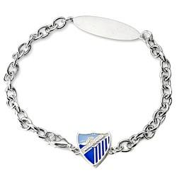 Pulsera esclava escudo Málaga CF plata de ley adaptable [8680GR]