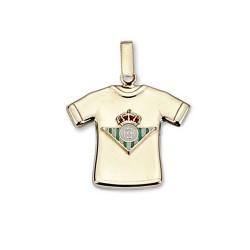 Colgante camiseta escudo Real Betis oro de ley 9k estampada [8720]