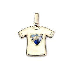 Colgante camiseta escudo Málaga CF oro de ley 9k estampada [8738]