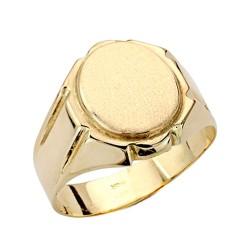 Sello oro 18k caballero tallado [AA0417]