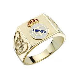 Sello escudo Real Madrid oro de ley 18k copas cuadrado [AA0634]
