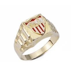 Sello escudo Sevilla FC oro de ley 9k esmaltado hueco [AA1899]
