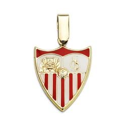 Colgante escudo Sevilla FC oro de ley 18k 20mm. esmaltado  [AA7450]