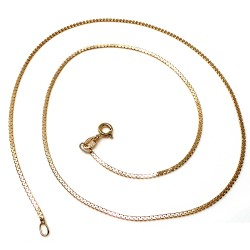 Cadena oro 18k veneciana lapidada 42cm. 1mm. 3,35gr. cierre reasa unisex