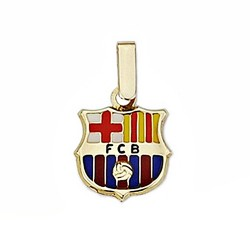 Colgante escudo F.C. Barcelona oro de ley 18k 12mm. esmalte [6509]