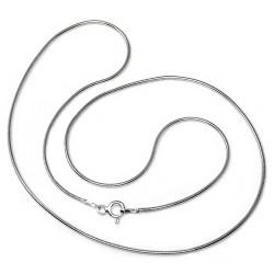 Cadena plata ley 925m 45cm. cola ratón hilo 0.25mm. [AB0380]
