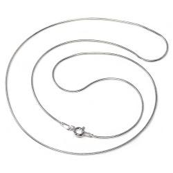 Cadena plata ley 925m 50cm. cola ratón hilo 0.20mm. [AB0430]