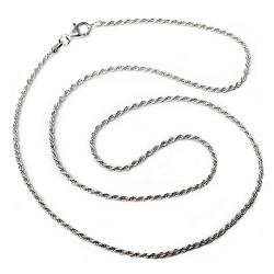 Cadena plata ley 925m lisa 50cm. cordoncillo  [AB0447]