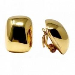 Pendientes bisutería metal dorados rectangulares 22mm. lisos [AB4997]