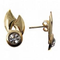 Pendientes bisutería metal dorados 25mm. figuras geométricas [AB5004]
