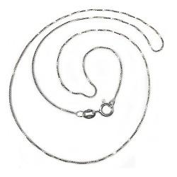 Cadena plata ley 925m lisa 45cm. veneciana brillo unisex cierre reasa