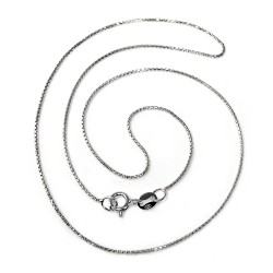 Cadena plata Ley 45 cm. veneciana redonda ligera [5668]