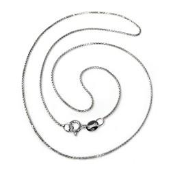 Cadena plata Ley 40 cm. veneciana redonda ligera [5667]