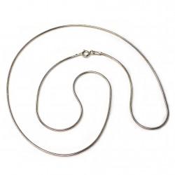 Cadena plata ley 925m lisa 50cm. cola ratón . [AB0443]