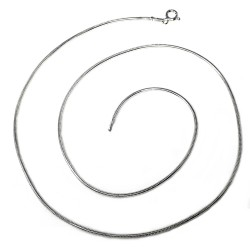 Cadena plata Ley 925m 45 cm. cola ratón . [AB3512]