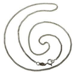 Cadena plata Ley 45 cm. barbada [2169]