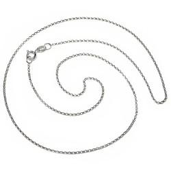 Cadena plata Ley 925m 50 cm. rolo. unisex cierre reasa