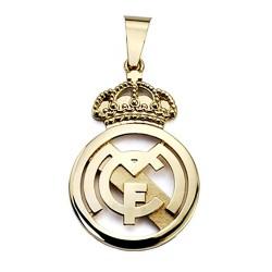 Colgante escudo Real Madrid oro de ley 18k 35mm. fundido [8472]