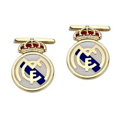 Gemelos escudo Real Madrid oro de ley 18k esmalte [8465]