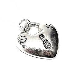 Colgante plata ley 925m 31mm. liso electroforming corazón [AA7590]