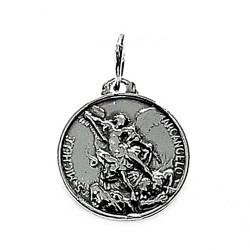 Colgante plata ley 925m 15mm. medalla San Miguel [AA8276]