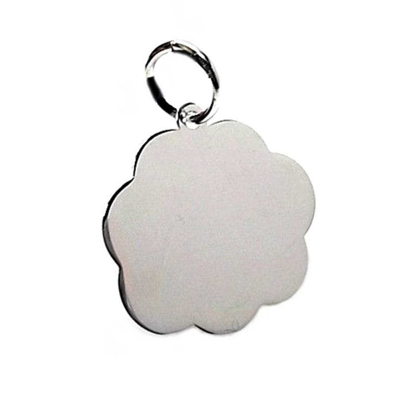 4162acd236c3 Colgante plata ley 925m 20mm. chapa nube para grabar  AA8491