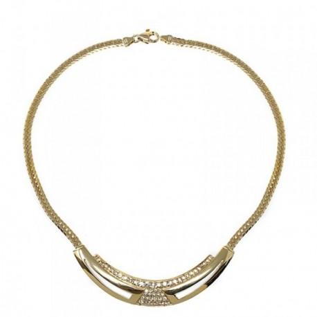 Gargantilla bisutería metal dorada 40cm. apertura piedras [AB5065]