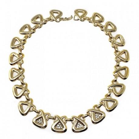 Gargantilla bisutería metal dorada 42cm. triángulos [AB5090]
