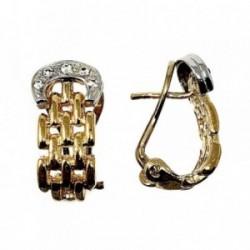 Pendientes bisutería metal dorados 20mm. eslabones pánter [AB5101]