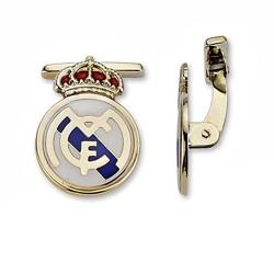 Gemelos escudo Real Madrid oro de ley 9k amarillo esmaltes [6492]